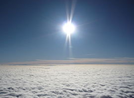 Sunshine above the clouds