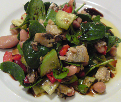 Sardines, Beans and Vegetable Salad