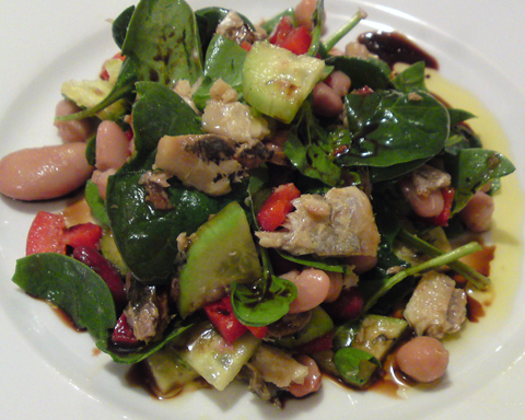 Recipe - Sardines, Beans and Vegetables Salad